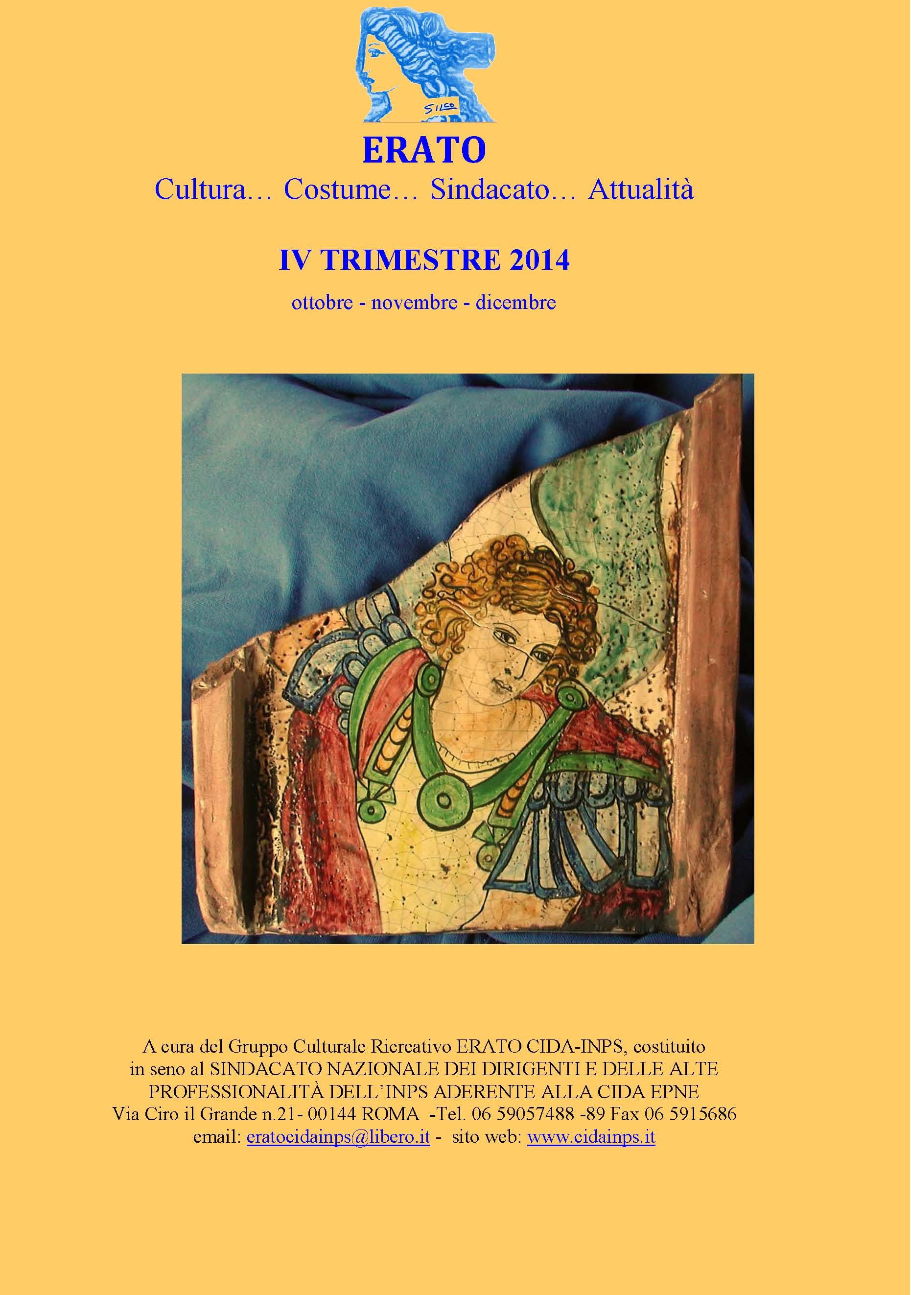Copertina ERATO  IV QUARTO TRIMESTRE 2014  IV