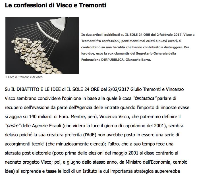 confessioni di Visco e Tremonti