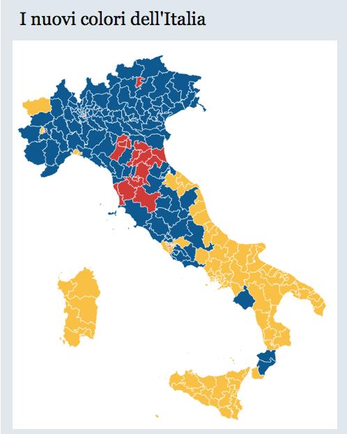 Cartina Italia Politica A Colori.Cartina Politica D Italia 2018 Eticapa